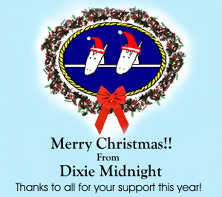 Dixie Midnight wishes you a Merry Christmas!!